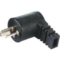 LTSW SW - Lautsprecherstecker, gewinkelt, schwarz