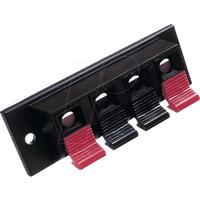 PT 932 - Lautsprecher-Terminal, mit Druckklemmen, eckig, 4-pol