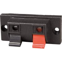 PT 916 - Lautsprecher-Terminal, mit Druckklemmen, eckig, 2-pol