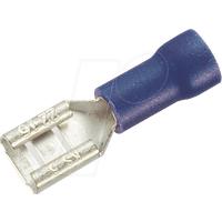 FSH-B-2,8 - Flachsteckerhülse, Breite: 2,8mm, blau