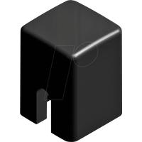 RND 210-00225 - Kappe schwarz quadratisch 4,0 x 4,0 x 5,5 mm
