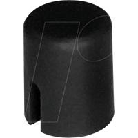 RND 210-00226 - Kappe schwarz rund 4,5 x 5,5 mm