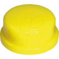 RND 210-00230 - Kappe gelb rund 10 x 5,7 mm