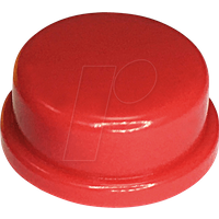 RND 210-00234 - Kappe rot rund 10 x 5,7 mm