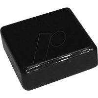 RND 210-00235 - Kappe schwarz quadratisch 12 x 12 x 4,0 mm