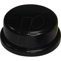 RND 210-00236 - Kappe schwarz rund 10 x 5,7 mm