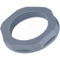 LAPP 53019000 - Gegenmutter, Sechskant, PG 7, SW 19 mm, silbergrau