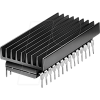 ICK 14 16 B - Kühlkörper 19 x 4,8 x 6,3 mm, für DIL - IC
