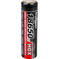 KM 18650 2,6 HDX - Industriezelle, 18650, 3,6 V, 2600 mAh