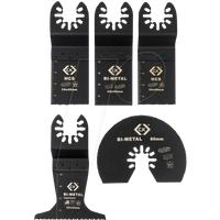 CK T0870 - Klingensatz für Oszillierwerkzeug, 5-teilig