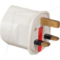 CONV 9680 - Adapter, deutscher Schutzkontaktstecker auf GB-Netzstecker, schw