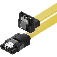 MK-MK1246 - SATA III 6Gb/s Kabel - 0,30m gewinkelt gelb