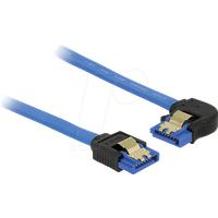 DELOCK 84982 - SATA 6 Gb/s Buchse gerade > SATA Buchse, links 10 cm blau