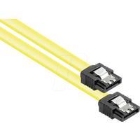 GC 5047-A03Y - Kabel SATA 6 Gb/s mit Metallclip, gelb, 0,3m