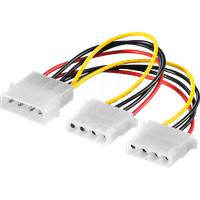 GOOBAY 50684 - Y-Stromversorgung für FD/HD, 2x 5,25´´ ca. 0,2m