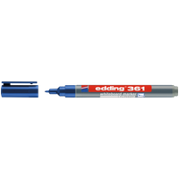 EDDING 361BL - Whiteboard Marker, 1,0 mm, blau