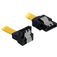 DELOCK 82474 - Kabel SATA 30cm gelb un/ge Metall