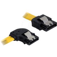 DELOCK 82493 - Kabel SATA 50cm gelb li/ge Metall