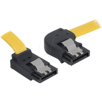 DELOCK 82523 - Kabel SATA 30cm gelb re/ob Metall