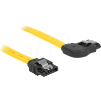 DELOCK 82830 - Kabel SATA 6 Gb/s ge/re 70 cm gelb Metall