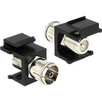 DELOCK 86352 - Keystone Modul IEC Buchse > F Buchse schwarz