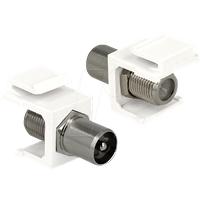 DELOCK 86362 - Keystone Modul IEC Stecker > F Buchse weiß