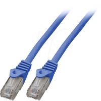 EFB K8104BL.0.5 - Cat.6 U/UTP Patchkabel CCA, 0,5 m, blau