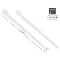 GC KAB-10T25 - Kabelbinder, 100 mm, transparent, 100er-Pack