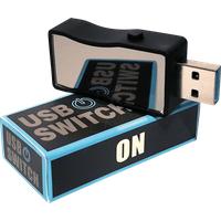 HMBG 1401 - USB 3.0 A Stecker auf A Buchse mit Schalter
