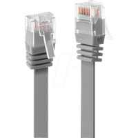 LINDY 47490 - 0,3 m Flachkabel U/UTP, Cat.6, grau