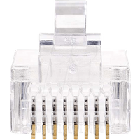 N CCGP89330TP - RJ45-Stecker, Cat 5, UTP, 10 Stück, Transparent