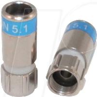CC 99909946-01 - F-Stecker, Kompression, TrueDrop 5.1