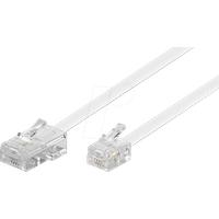 MK 6P4C WS 3M - Stecker 6p4c auf Stecker 8p4c, 3 m, weiß