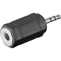 NTA 228 - 2,5 mm Stereo Klinken Stecker auf 3,5 mm Stereo Klinken Buchse
