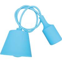VT-3482 - Lampenfassung Pendel, E27, Silikon, hellblau