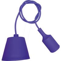 VT-3483 - Lampenfassung Pendel, E27, Silikon, lila