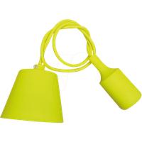 VT-3485 - Lampenfassung Pendel, E27, Silikon, gelb