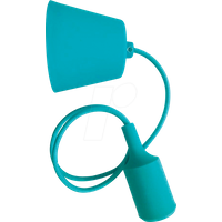 VT-3486 - Lampenfassung Pendel, E27, Silikon, grün