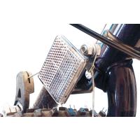 BIKE 40054 - Fahrrad-Frontreflektor für den Lenkerschaft, weiß