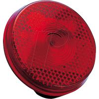 BIKE 40017 - Fahrrad-Sicherheitsflasher im runden Reflektorgehäuse