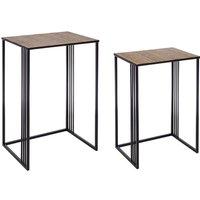 Set de 2 mesas auxiliares Dan