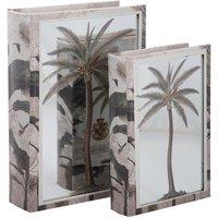 Set de 2 cajas decorativas Libro