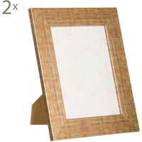 Set de 2 marcos de fotos Deco, Formato foto: 14 x 18 cm