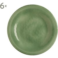 Set de 6 platos llanos Mint Harmony