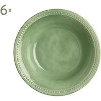 Set de 6 platos hondos Mint Harmony