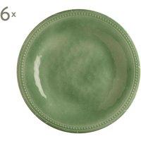 Set de 6 platos de postre Mint Harmony
