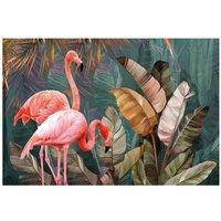 Alfombra vinílica Flamingo, 143 X 97 cm