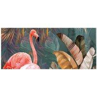 Alfombra vinílica Flamingo, 150 X 65 cm