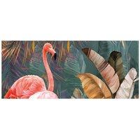 Alfombra vinílica Flamingo, 175 X 74 cm
