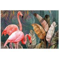 Alfombra vinílica Flamingo, 196 X 130 cm